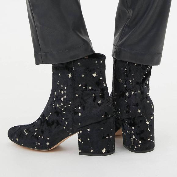 Urban Outfitters Margot Constellation Velvet Boot